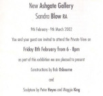 Exhibition with Sandra Blow, New Ashgate Gallery, 2002